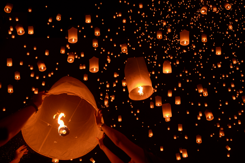 Lichterfestival in Chiang Mai