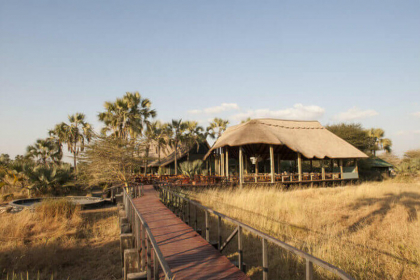 Eine tented Lodge in Tansania